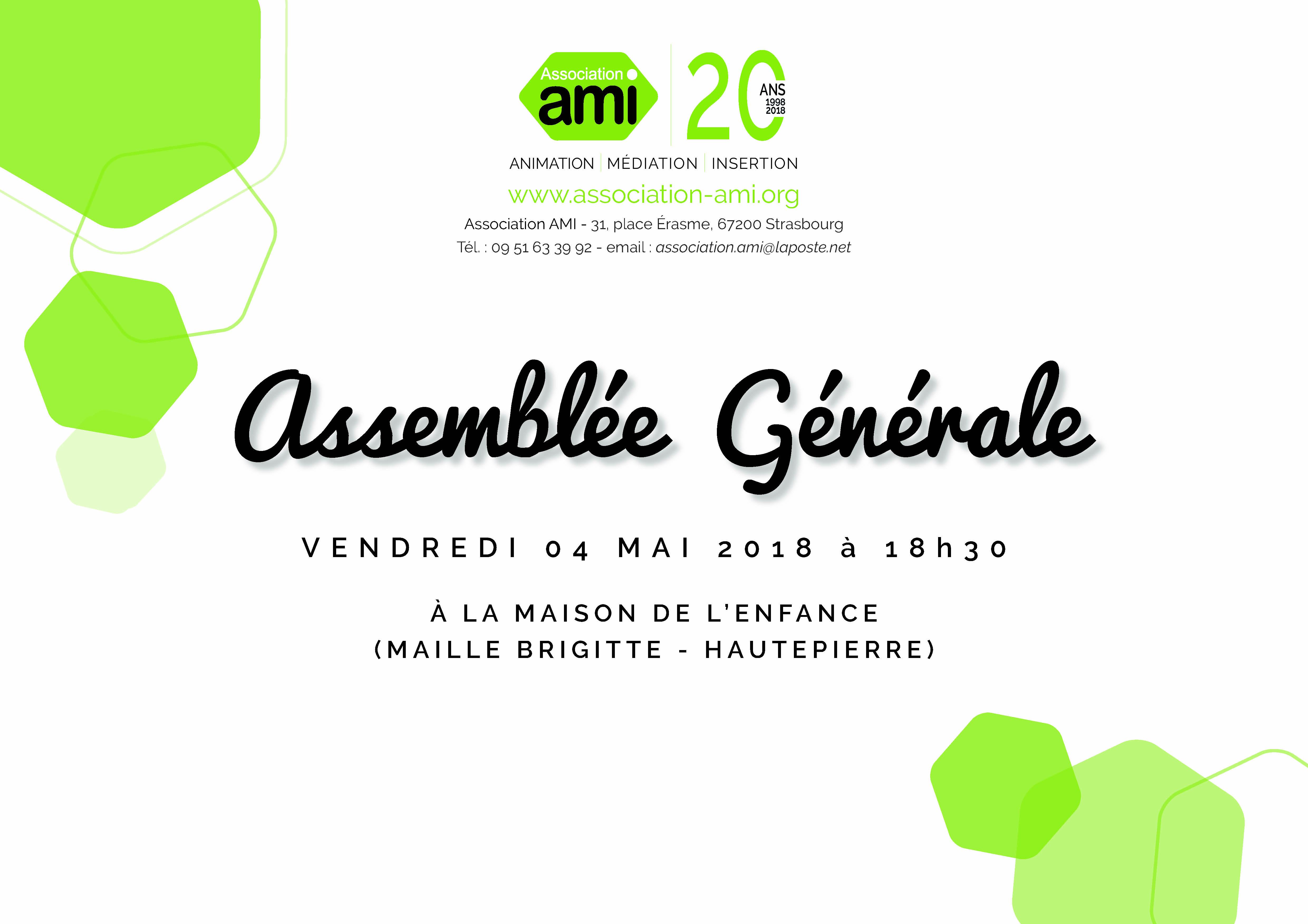 Assemblée Générale de l'Association AMI
